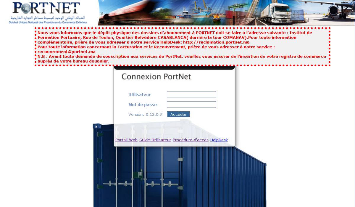 Foire aux questions portnet for Portnet maroc